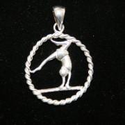 Sterling Silver Gymnastic Pendant- No.2